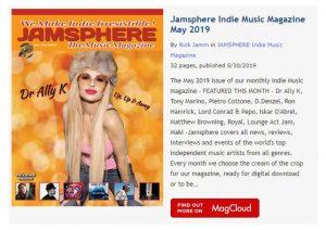 Jamsphere Indie Music Magazine May 2019 - JamSphere