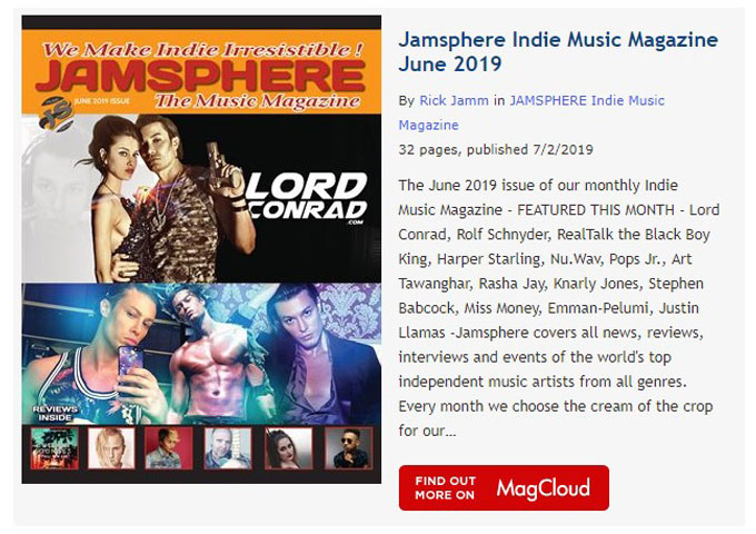 Jamsphere Indie Music Magazine June 2019