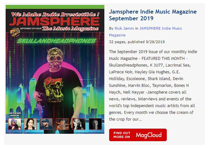 Jamsphere Indie Music Magazine September 2019