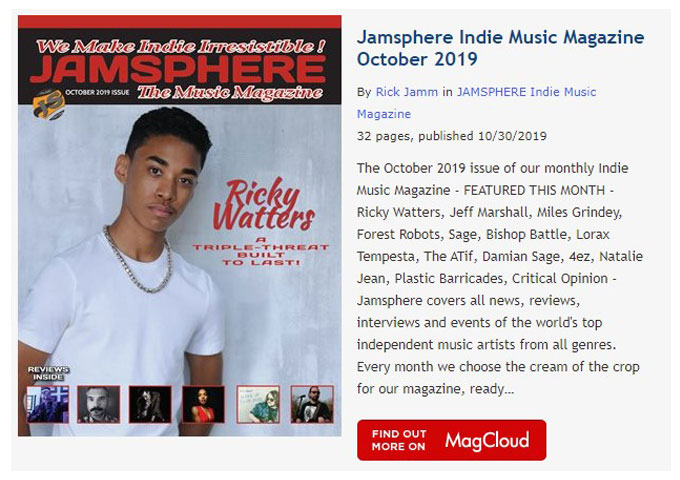 Jamsphere Indie Music Magazine October 2019