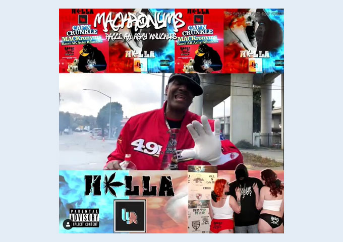 """Official Music Video Trailer: MACKronyms ft. Racci AK Ashy Knuckles as Cap'n Crunkle in """"Hella Lyt"""""""
