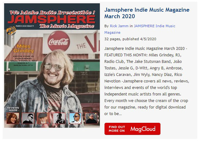 Jamsphere Indie Music Magazine March 2020