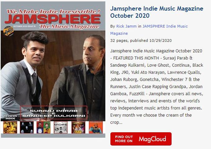Jamsphere Indie Music Magazine October 2020