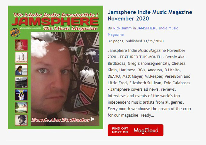 Jamsphere Indie Music Magazine November 2020